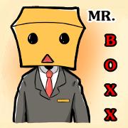 สติ๊กเกอร์ไลน์ MR.BOXX (นายหน้ากล่อง)