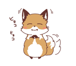 Fox and Rabbits sticker #14898091