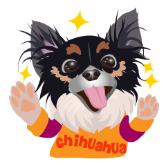 Cute Chihuahua stickers cheer you up!