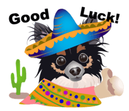 Cute Chihuahua stickers cheer you up! sticker #14921992