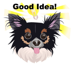 Cute Chihuahua stickers cheer you up! sticker #14921993