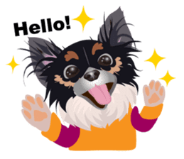 Cute Chihuahua stickers cheer you up! sticker #14921995