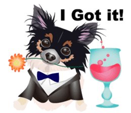 Cute Chihuahua stickers cheer you up! sticker #14921996
