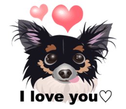 Cute Chihuahua stickers cheer you up! sticker #14922000