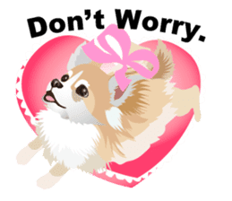 Cute Chihuahua stickers cheer you up! sticker #14922011