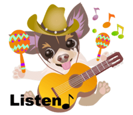 Cute Chihuahua stickers cheer you up! sticker #14922012