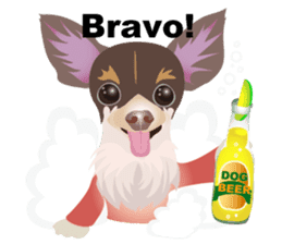Cute Chihuahua stickers cheer you up! sticker #14922015
