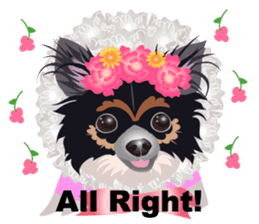 Cute Chihuahua stickers cheer you up! sticker #14922018