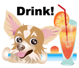 Cute Chihuahua stickers cheer you up! sticker #14922021