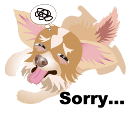 Cute Chihuahua stickers cheer you up! sticker #14922025