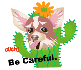 Cute Chihuahua stickers cheer you up! sticker #14922027