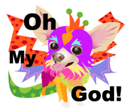 Cute Chihuahua stickers cheer you up! sticker #14922028
