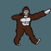 สติ๊กเกอร์ไลน์ Dancing Gorilla 2