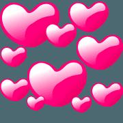 สติ๊กเกอร์ไลน์ Many heart shapes! Love hearts!(English)