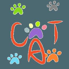 CAT footprint sticker