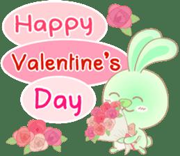 Rabbita (to) Happy Valentine's Day 2017 sticker #14943932