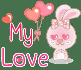 Rabbita (to) Happy Valentine's Day 2017 sticker #14943954