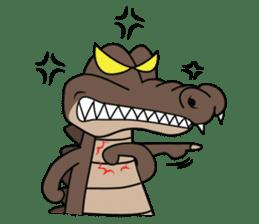 fly crocodile sticker #14944491