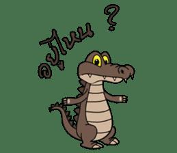 fly crocodile sticker #14944503