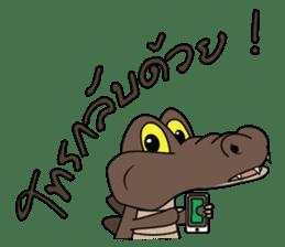 fly crocodile sticker #14944506