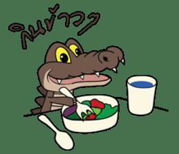 fly crocodile sticker #14944510