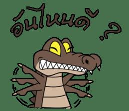 fly crocodile sticker #14944512