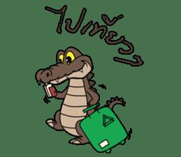 fly crocodile sticker #14944513
