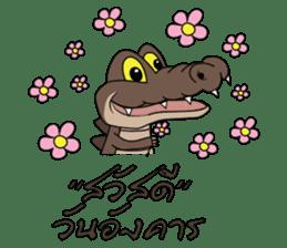 fly crocodile sticker #14944521