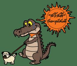 fly crocodile sticker #14944523