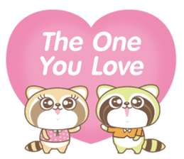 Raccoon Love sticker #14945894