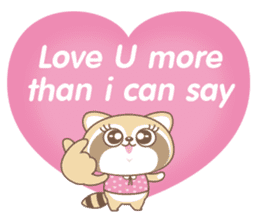 Raccoon Love sticker #14945895