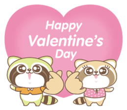 Raccoon Love sticker #14945897