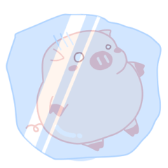 Vivid Emotions with Chubby Cute Pink Pig