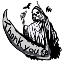 Death grimreaper Sticker sticker #14960335