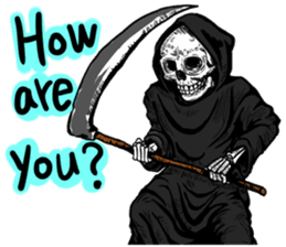 Death grimreaper Sticker sticker #14960352