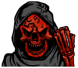 Death grimreaper Sticker sticker #14960353