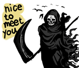 Death grimreaper Sticker sticker #14960359