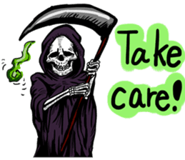 Death grimreaper Sticker sticker #14960361