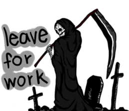 Death grimreaper Sticker sticker #14960363