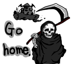 Death grimreaper Sticker sticker #14960369