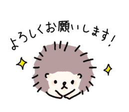 Rough Hedgehog stickers sticker #14961030
