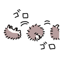 Rough Hedgehog stickers sticker #14961067