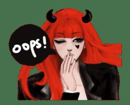REA (Reddevil girl) animation no.2 #NEW sticker #14974185