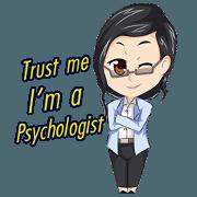 สติ๊กเกอร์ไลน์ ฉันคือนักจิตวิทยา