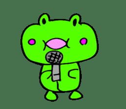 Japanese happy green frog sticker #14987219