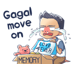 Susah Move On sticker #14999678