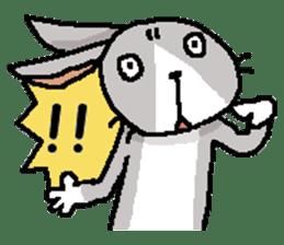 I'm gray rabbit ! 5 (Love is all) sticker #15006297