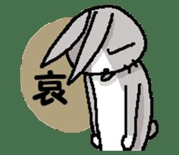 I'm gray rabbit ! 5 (Love is all) sticker #15006302