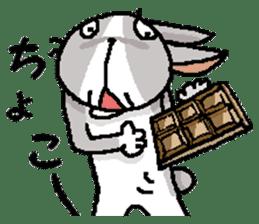 I'm gray rabbit ! 5 (Love is all) sticker #15006303