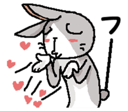 I'm gray rabbit ! 5 (Love is all) sticker #15006305